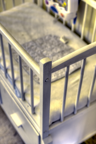 Our bassinet. I went way too heavy on the HDR effect on this one.