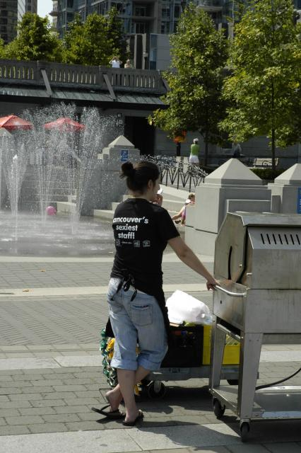 Vancouver, BC waterfront T-Shirt - 'Vancouver's Sexiest Staff'